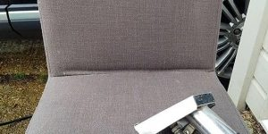 Upholstery Cleaning of Grey Fabric Dining Chair